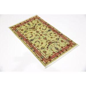 Nain Trading Tapis D'orient Tabriz 50Raj 119x73 Marron/Orange (Laine/Soie, Perse/Iran, Noué à la main)