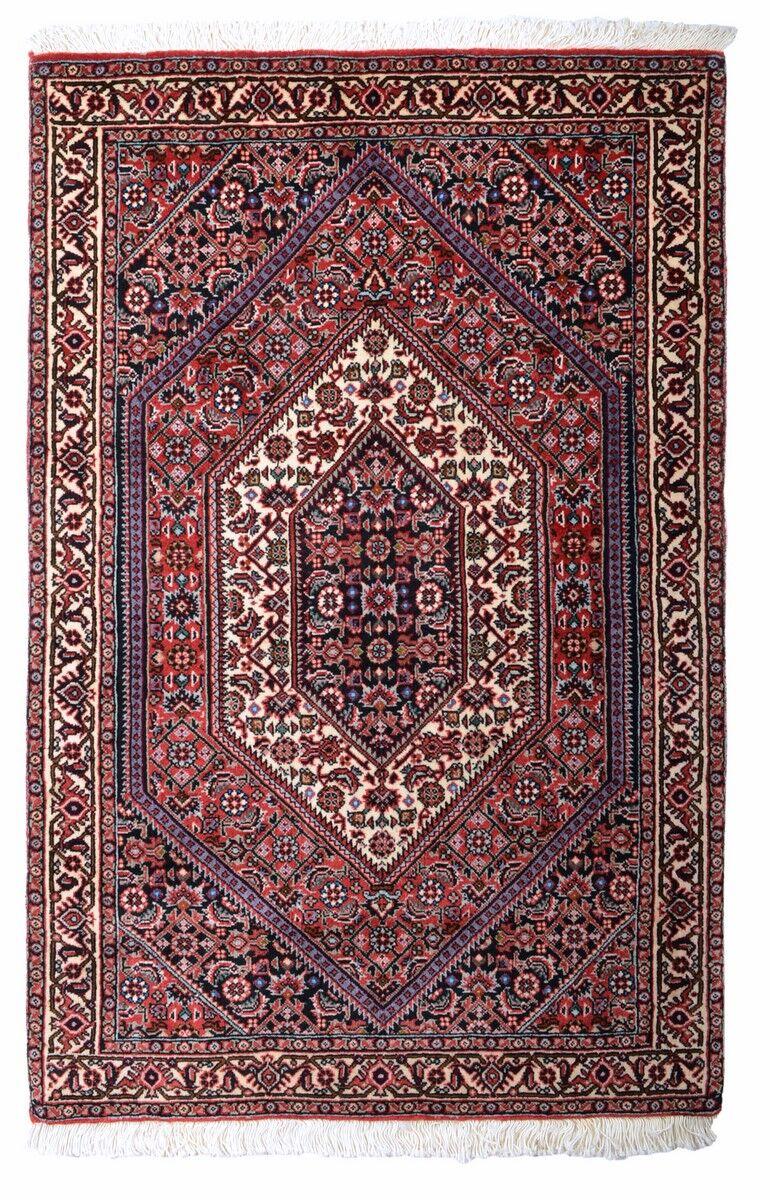 Nain Trading Tapis Bidjar 112x73 Violet/Rose (Laine, Perse/Iran, Noué à la main)
