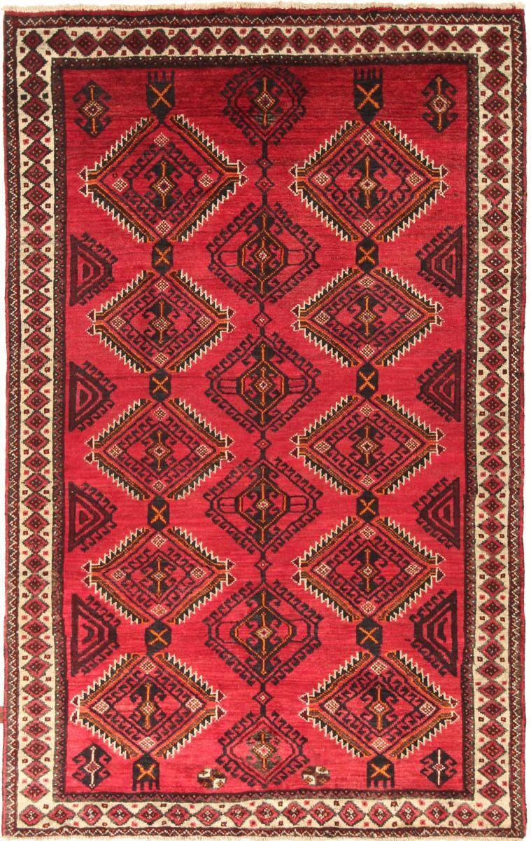 Nain Trading Tapis D'orient Shiraz 245x156 Rouge/Rose (Laine, Perse/Iran, Noué à la main)