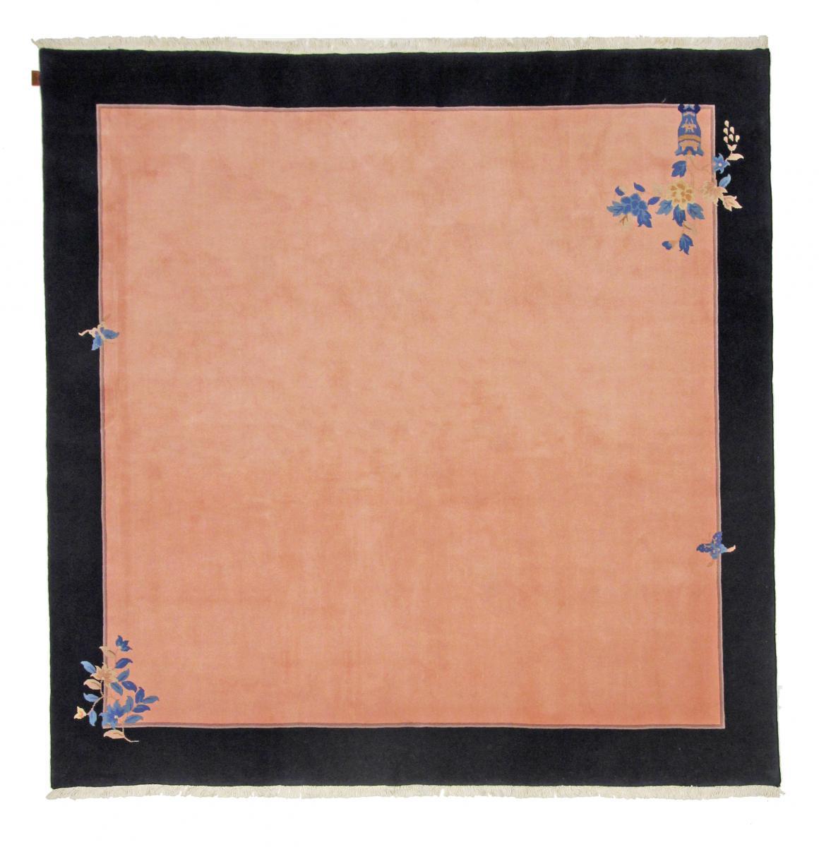 Nain Trading Tapis Chinois 245x243 Carré Gris Foncé/Beige (Laine, Chine, Noué à la main)