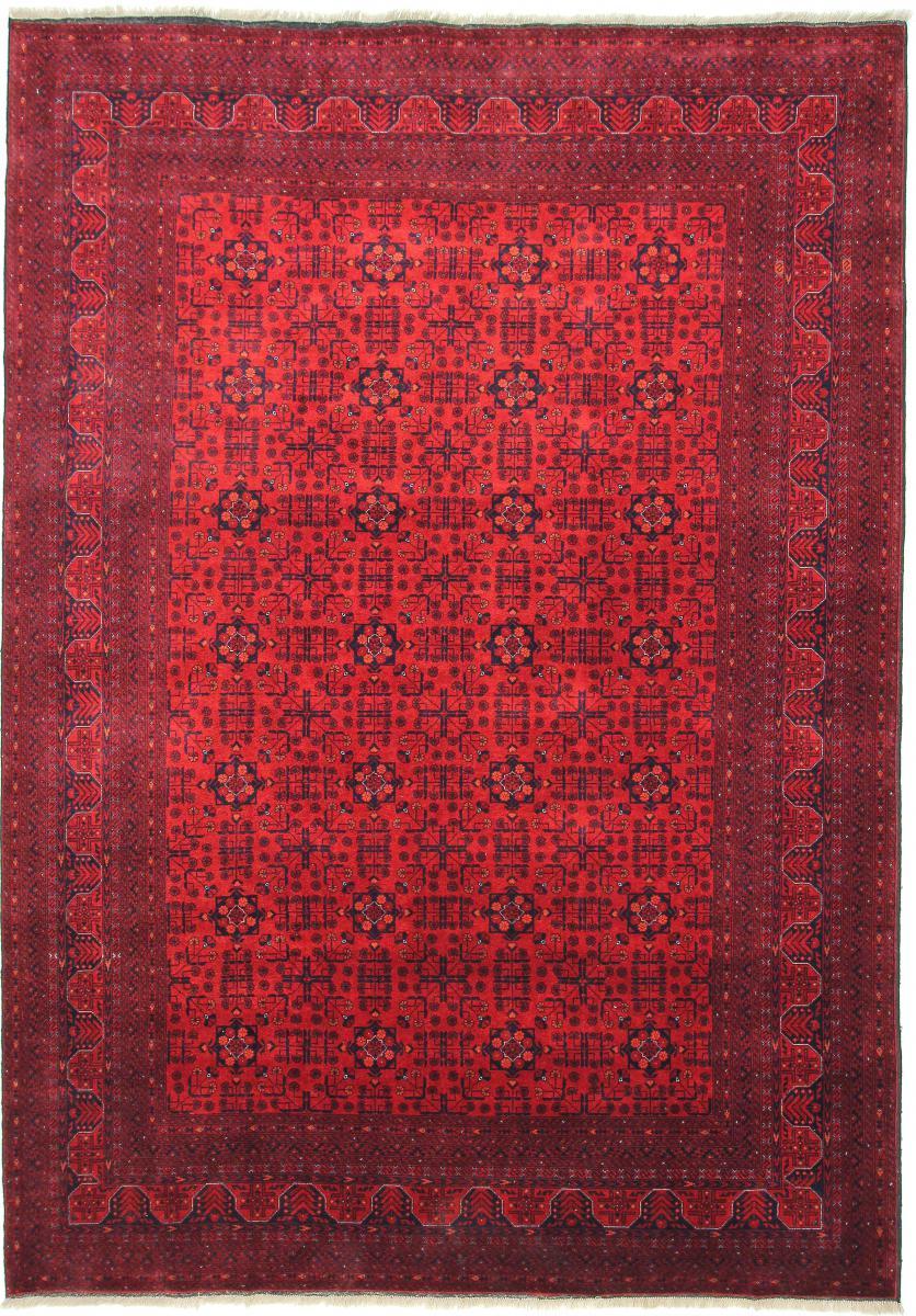 Nain Trading Tapis D'orient Khal Mohammadi Belgique 285x199 Marron Foncé/Rouille (Afghanistan, Laine, Noué à la main)