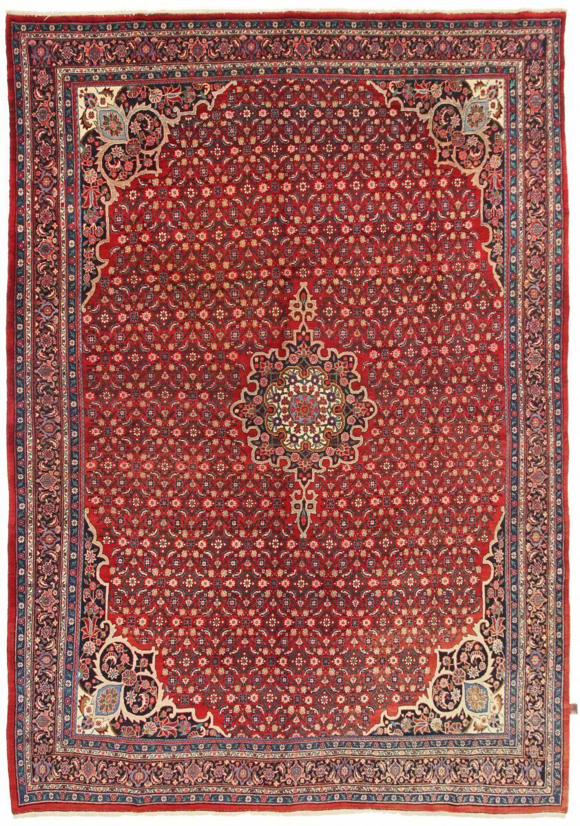 Nain Trading Tapis D'orient Bidjar Ancien 389x269 Marron Foncé/Rouge (Laine, Perse/Iran, Noué à la main)