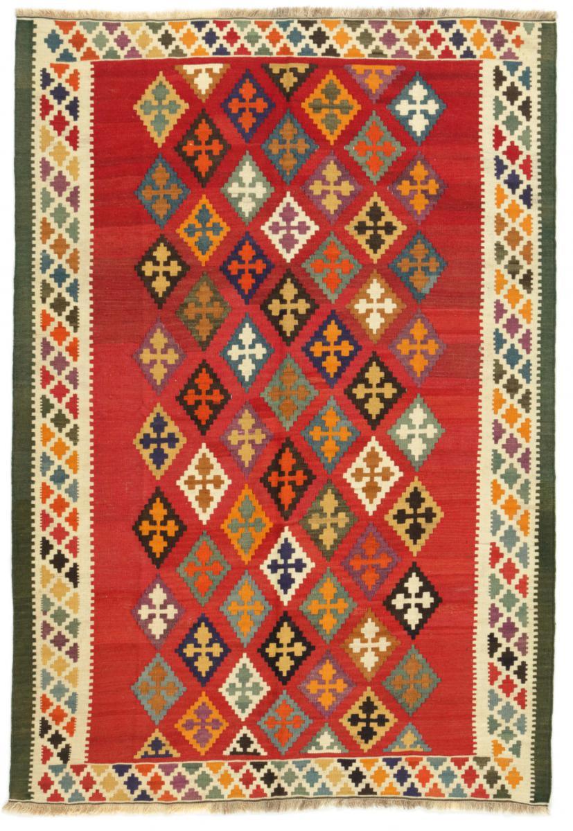 Nain Trading Tapis D'orient Kilim Fars Ancien 219x149 Marron Foncé/Orange (Perse/Iran, Laine, Noué à la main)
