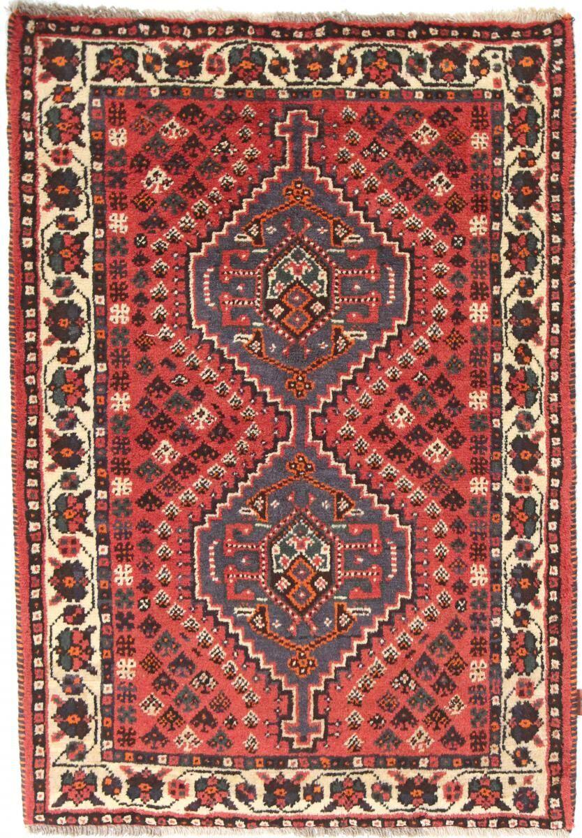 Nain Trading Tapis D'orient Shiraz 161x109 Gris Foncé/Rouge (Laine, Perse/Iran, Noué à la main)