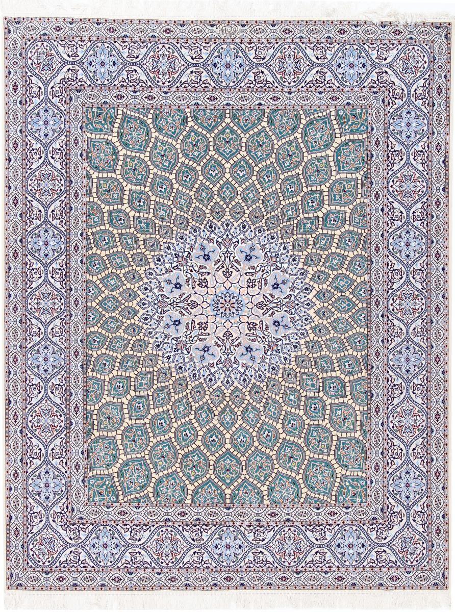 Nain Trading Tapis D'orient Naïn 6La 265x208 Gris/Bleu Clair (Laine/Soie, Perse/Iran, Noué à la main)