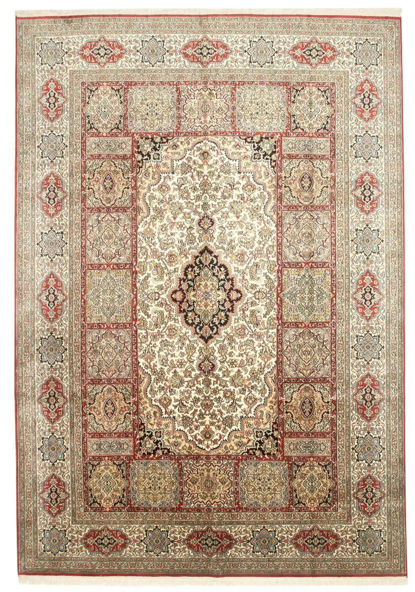 Nain Trading Tapis D'orient Cachemire Pure Soie 310x220 Beige/Marron (Noué à la main, Inde, Soie)