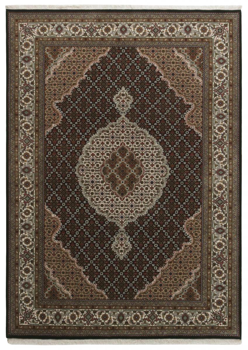 Nain Trading Tapis D'orient Indo Tabriz Royal 241x172 Gris Foncé/Marron Foncé (Inde, Laine, Noué à la main)