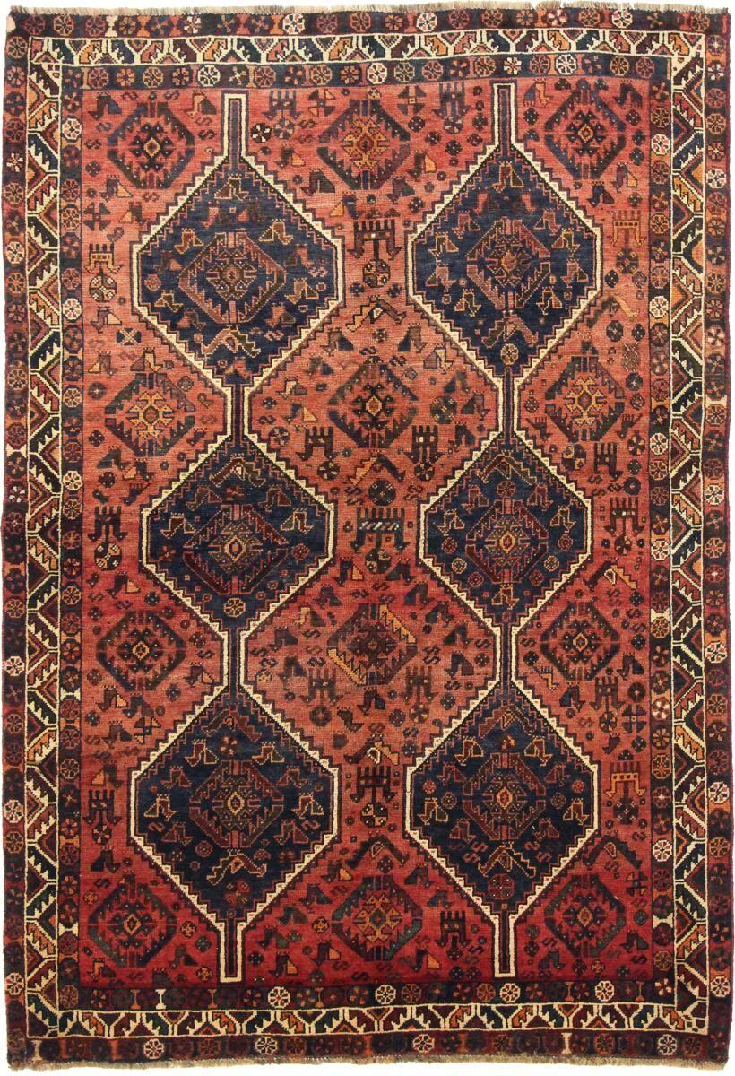 Nain Trading Tapis D'orient Shiraz 246x169 Gris Foncé/Violet (Perse/Iran, Laine, Noué à la main)