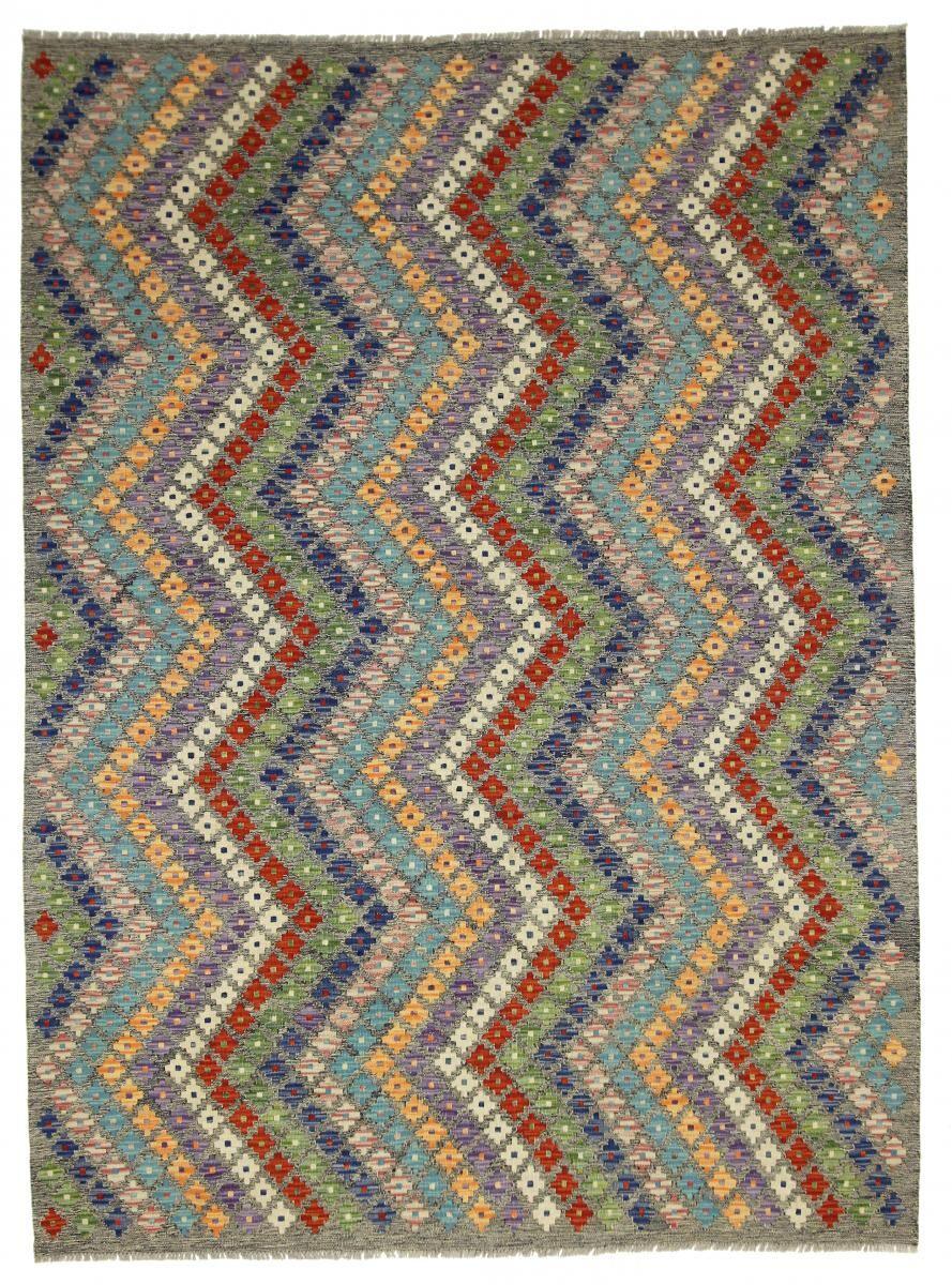 Nain Trading Tapis D'orient Kilim Himalaya 240x178 Gris Foncé/Marron Foncé (Afghanistan, Laine, Tissé à la main)