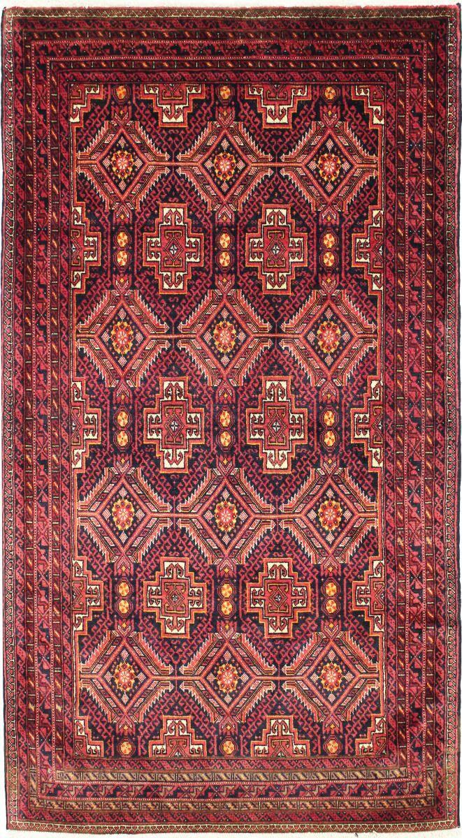 Nain Trading Tapis D'orient Baloutche 164x91 Coureur Violet/Rose (Laine, Perse/Iran, Noué à la main)