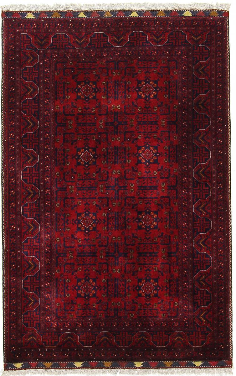 Nain Trading Tapis D'orient Khal Mohammadi Belgique 157x103 Gris Foncé (Laine, Afghanistan, Noué à la main)