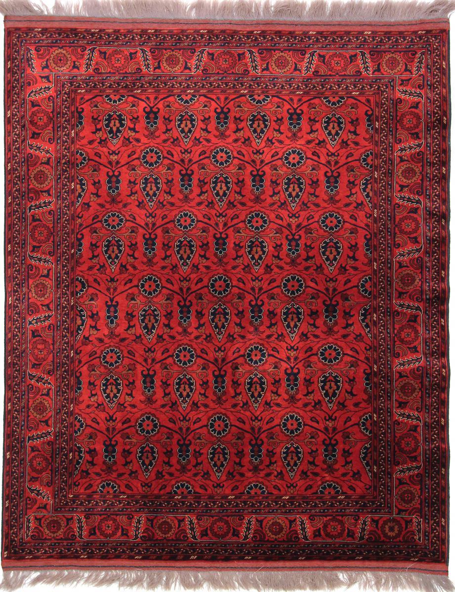 Nain Trading Tapis Khal Mohammadi Belgique 183x151 Rouge/Rouille (Laine, Afghanistan, Noué à la main)