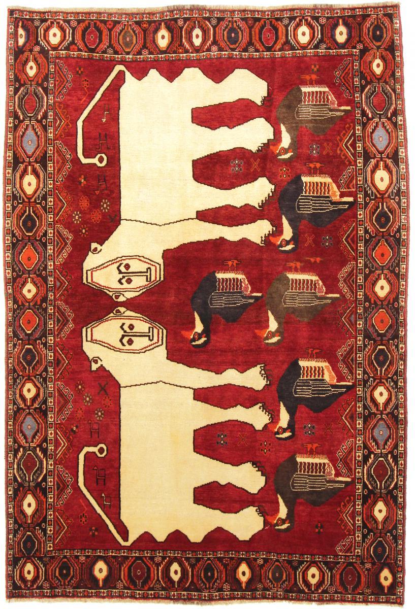 Nain Trading Tapis Ghashghai 222x150 Beige/Marron (Laine, Perse/Iran, Noué à la main)
