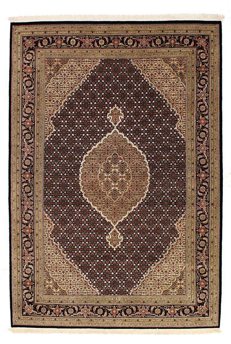 Nain Trading Tapis Indo Tabriz Royal 241x173 Gris Foncé/Marron Foncé (Laine, Inde, Noué à la main)