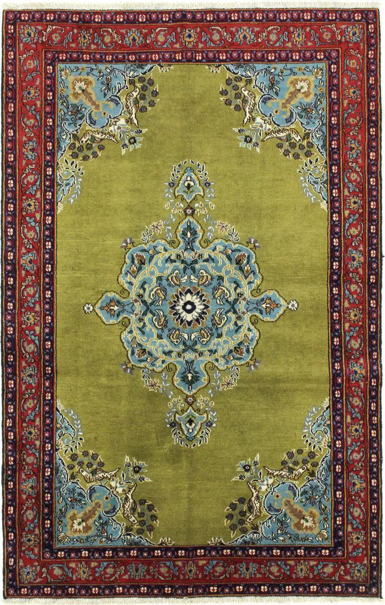 Nain Trading Tapis Fait Main Ispahan Ancien 156x101 Marron/Vert Foncé (Laine, Perse/Iran)