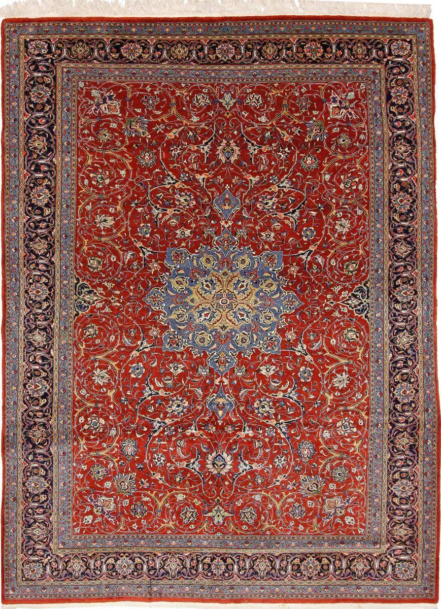 Nain Trading Tapis D'orient Sarough Ancien 350x263 Rouille/Violet (Perse/Iran, Laine, Noué à la main)