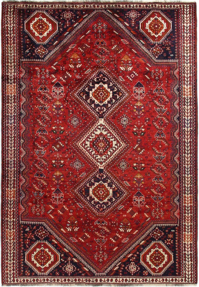 Nain Trading Tapis D'orient Shiraz 285x185 Gris Foncé/Marron Foncé (Perse/Iran, Laine, Noué à la main)