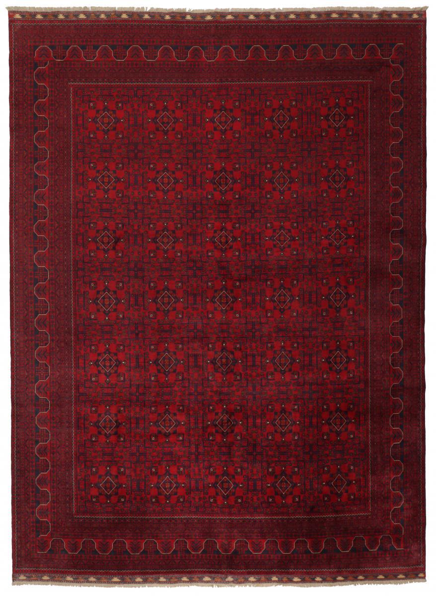 Nain Trading Tapis D'orient Khal Mohammadi Belgique 381x293 Marron Foncé (Noué à la main, Afghanistan, Laine)