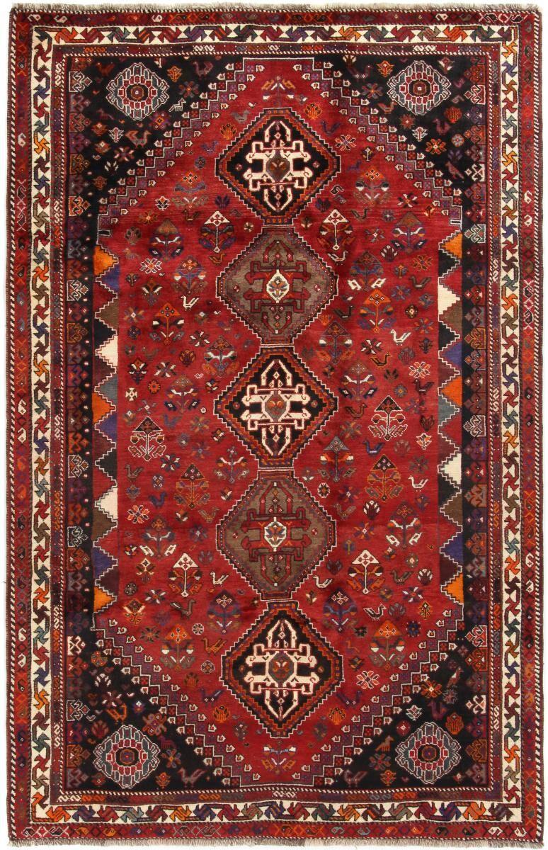 Nain Trading Tapis Persan Shiraz 274x169 Shiraz Rouille/Violet (Noué à la main, Perse/Iran, Laine)