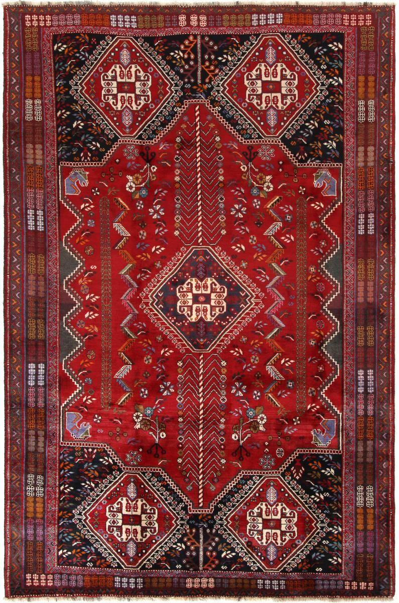 Nain Trading Tapis D'orient Shiraz 281x179 Gris Foncé/Rouille (Laine, Perse/Iran, Noué à la main)