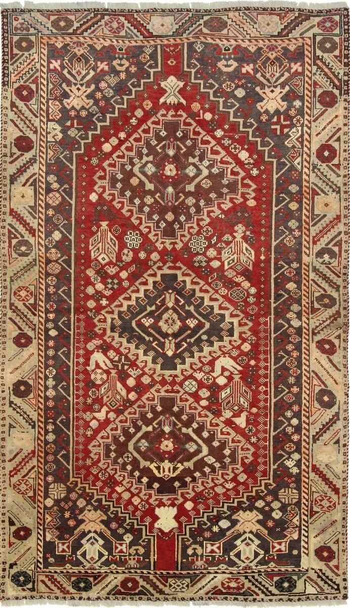 Nain Trading Tapis Fait Main Shiraz 257x149 Beige/Rouille (Laine, Perse/Iran)