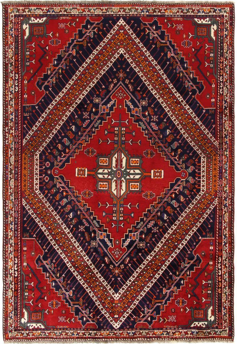 Nain Trading Tapis D'orient Shiraz 271x181 Rouge Foncé/Violet (Laine, Perse/Iran, Noué à la main)