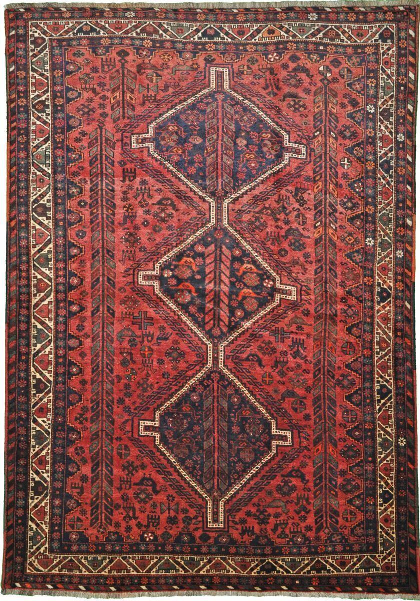 Nain Trading Tapis D'orient Shiraz 298x209 Gris Foncé/Rouille (Perse/Iran, Laine, Noué à la main)