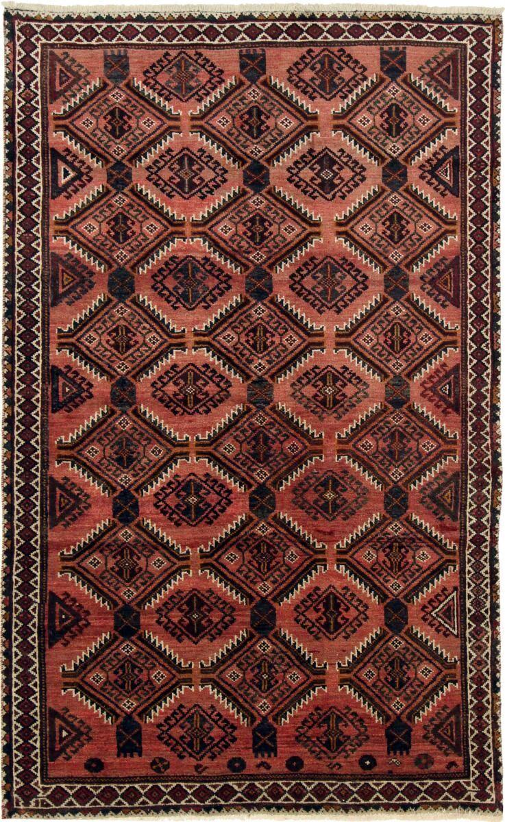 Nain Trading Tapis Persan Shiraz 247x151 Shiraz Gris Foncé/Rouille (Noué à la main, Perse/Iran, Laine)