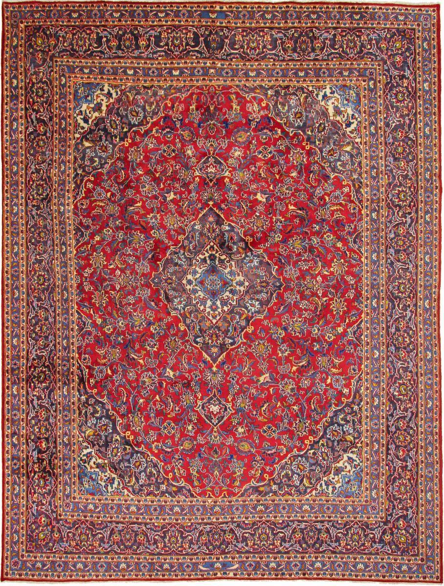Nain Trading Tapis D'orient Kashan 377x290 Rouille/Rose (Perse/Iran, Laine, Noué à la main)