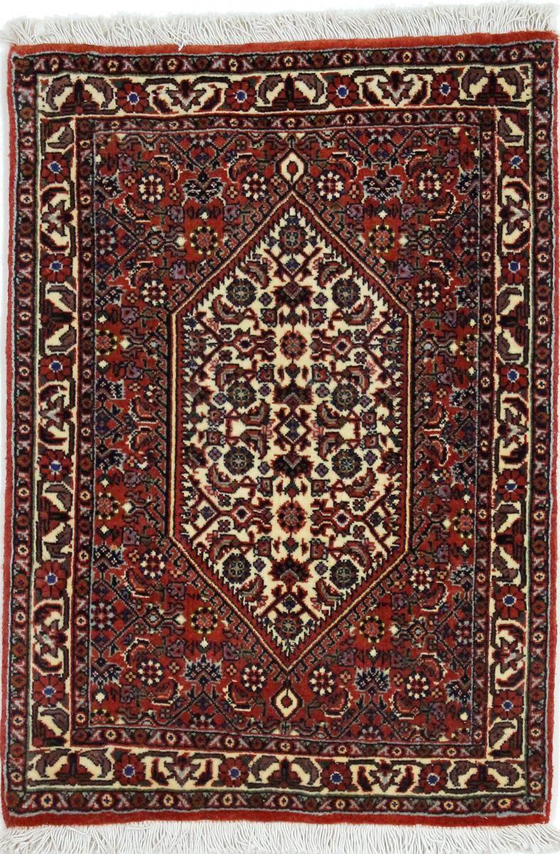 Nain Trading Tapis Bidjar 67x49 Gris Foncé/Rouille (Laine/Soie, Perse/Iran, Noué à la main)