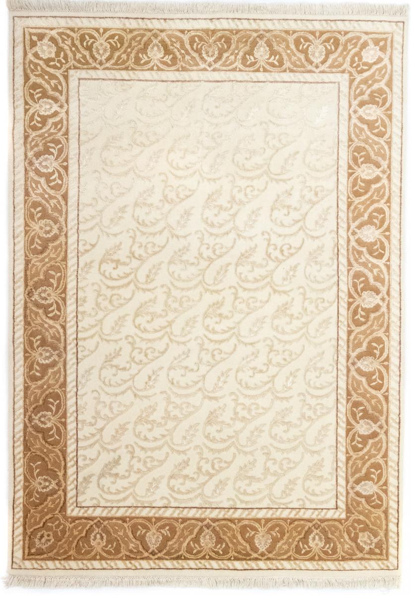 Nain Trading Tapis Authentique Indo Tabriz 238x169 Marron/Rose (Laine, Inde, Noué à la main)