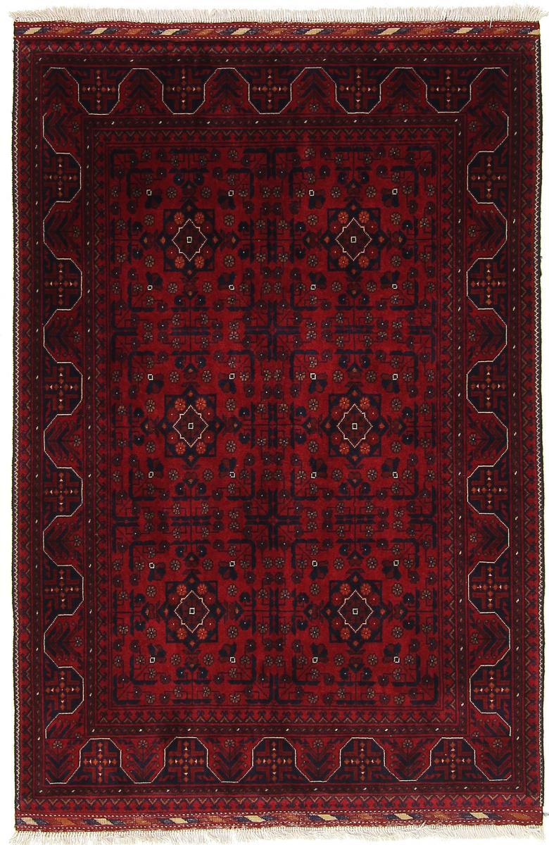 Nain Trading Tapis Authentique Khal Mohammadi Belgique 156x105 Gris Foncé/Marron Foncé (Laine, Afghanistan, Noué à la main)