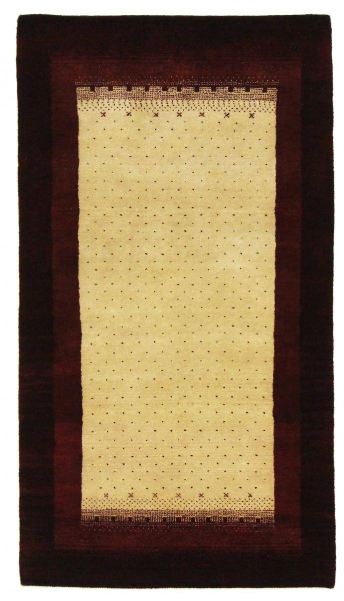 Nain Trading Tapis Gabbeh Loribaft 164x91 Moderne/Design Coureur Gris Foncé/Rose (Noué à la main, Laine, Inde)
