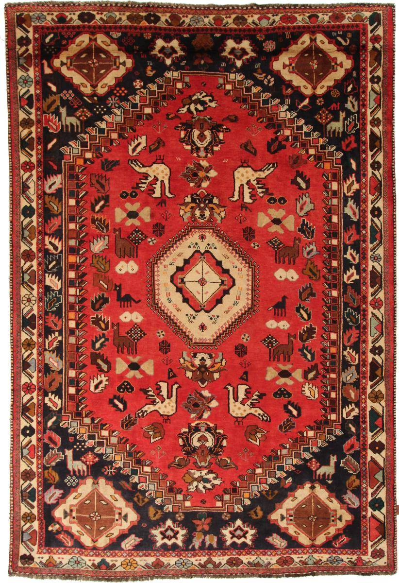 Nain Trading Tapis D'orient Shiraz 319x217 Beige/Orange (Perse/Iran, Laine, Noué à la main)