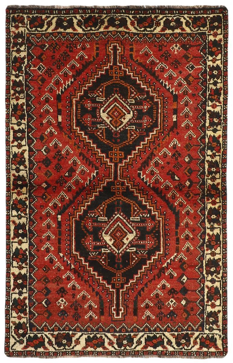 Nain Trading Tapis Fait Main Shiraz 157x100 Gris Foncé/Marron (Laine, Perse/Iran)