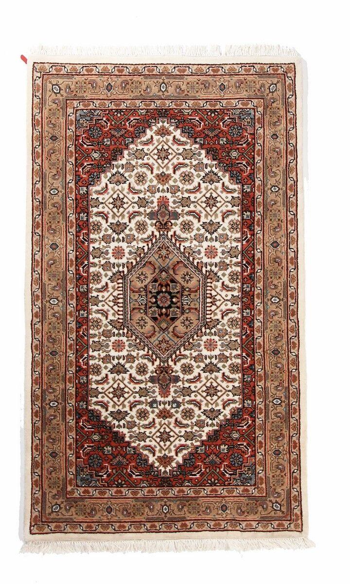 Nain Trading Tapis Indo Bidjar Royal 160x90 Beige/Rose (Laine, Inde, Noué à la main)