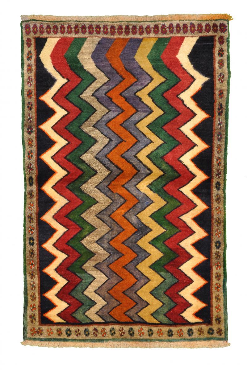 Nain Trading Tapis Persan Gabbeh Ancien 157x99 Moderne/Design Gris Foncé/Rouille (Noué à la main, Laine, Perse/Iran)