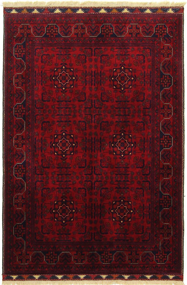 Nain Trading Tapis D'orient Khal Mohammadi Belgique 149x103 Gris Foncé/Marron Foncé (Afghanistan, Laine, Noué à la main)