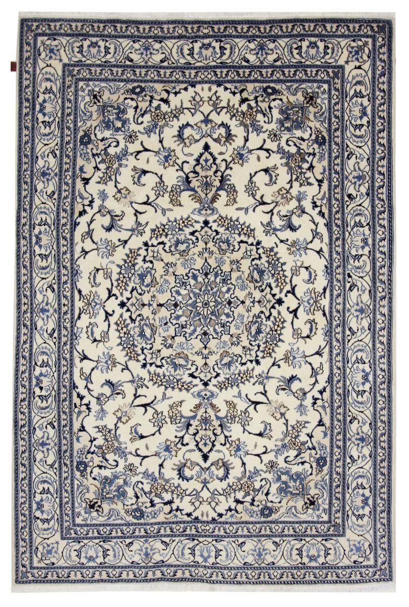 Nain Trading Tapis D'orient Naïn 298x203 Gris Foncé/Bleu Clair (Laine/Soie, Perse/Iran, Noué à la main)