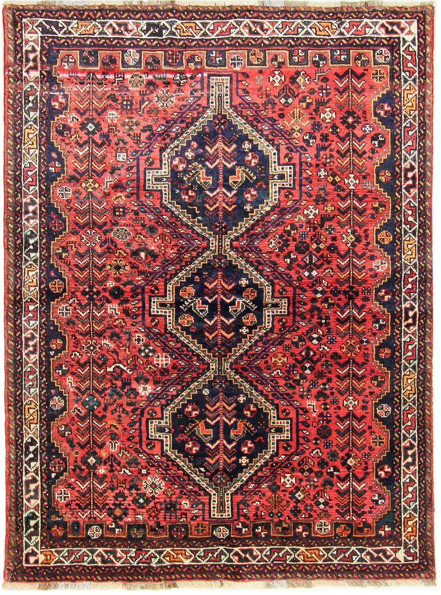 Nain Trading Tapis Fait Main Shiraz 214x157 Marron Foncé/Orange (Laine, Perse/Iran)