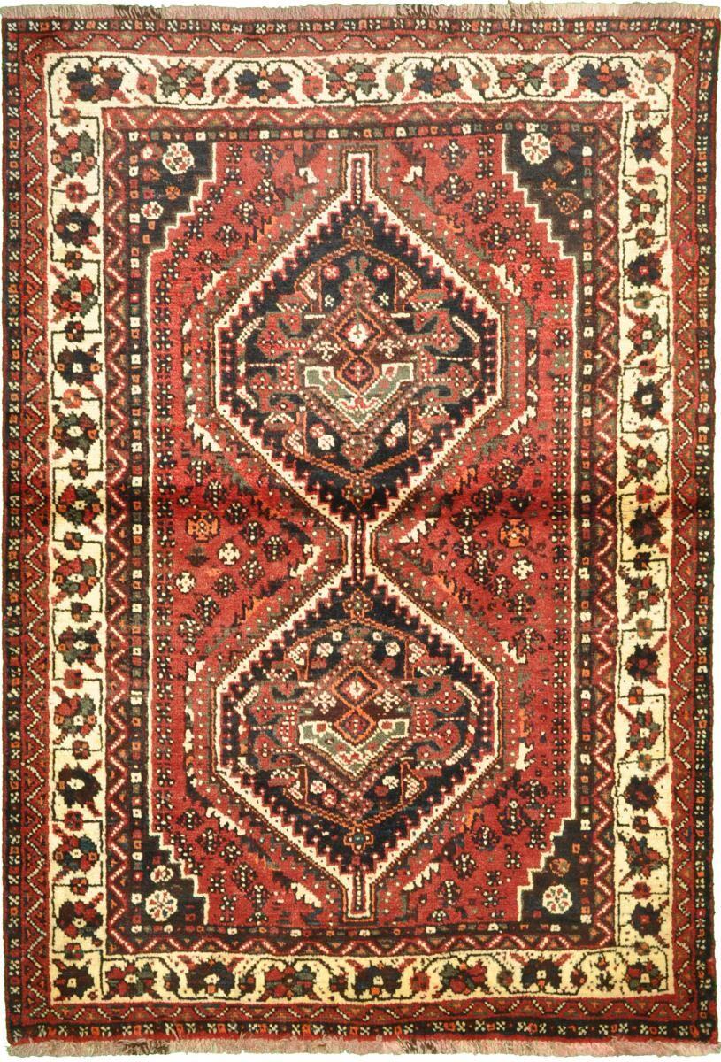 Nain Trading Tapis Fait Main Shiraz 156x105 Gris Foncé/Marron (Laine, Perse/Iran)