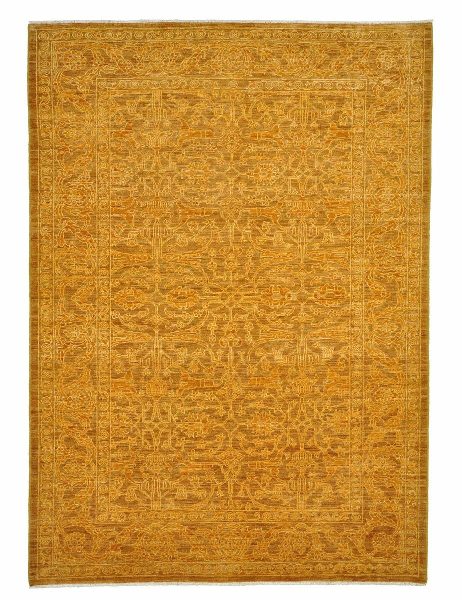 Nain Trading Tapis Authentique Ziegler Farahan Arijana 209x148 Marron Clair/Jaune (Laine, Pakistan, Noué à la main)