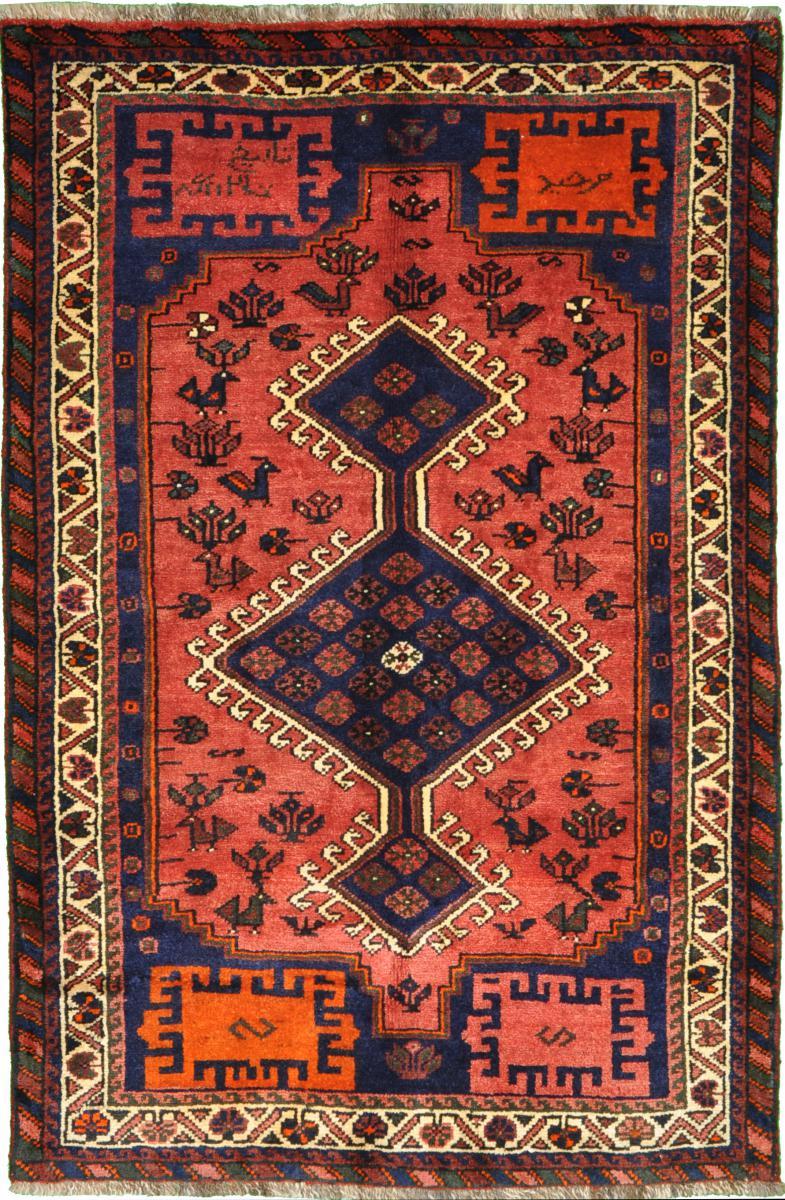 Nain Trading Tapis D'orient Shiraz 167x111 Beige/Marron (Laine, Perse/Iran, Noué à la main)