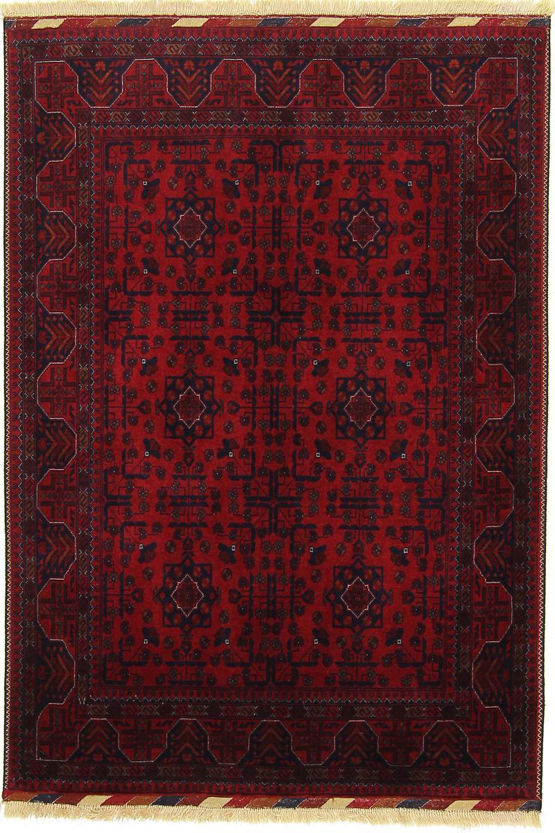 Nain Trading Tapis D'orient Khal Mohammadi Belgique 151x106 Gris Foncé/Marron Foncé (Afghanistan, Laine, Noué à la main)