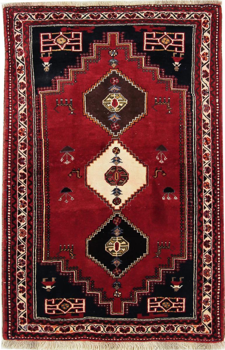 Nain Trading Tapis D'orient Shiraz 166x109 Gris Foncé/Rouille (Perse/Iran, Laine, Noué à la main)