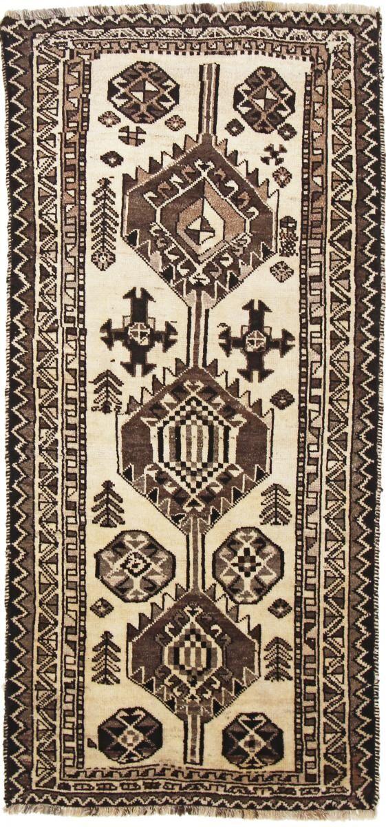 Nain Trading Tapis Ghashghai 222x103 Moderne/Design Beige/Marron Foncé (Noué à la main, Laine, Perse/Iran)