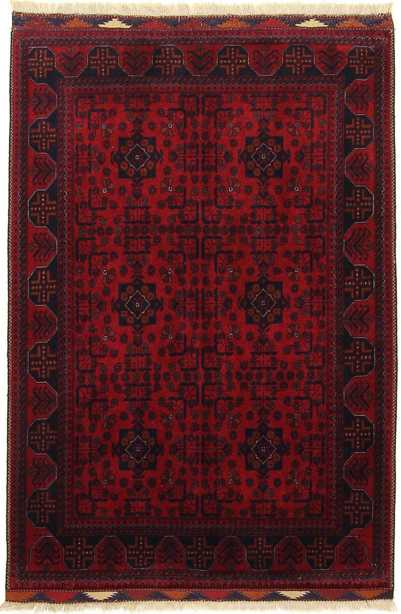 Nain Trading Tapis Authentique Khal Mohammadi Belgique 154x107 Gris Foncé/Marron Foncé (Laine, Afghanistan, Noué à la main)