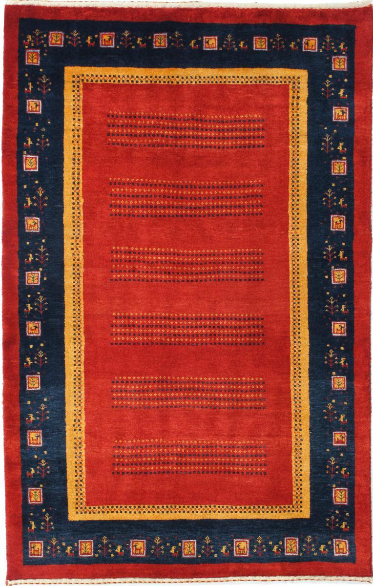 Nain Trading Tapis D'orient Persan Gabbeh Loribaft 176x113 Marron Clair/Rouille (Perse/Iran, Laine, Noué à la main)