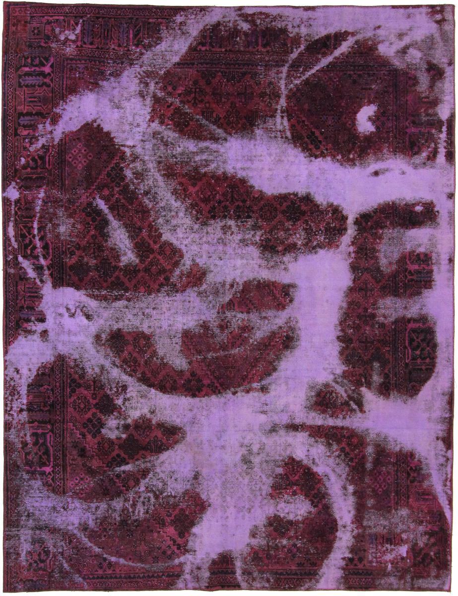 Nain Trading Tapis Vintage Royal 345x264 Gris Foncé/Marron Foncé (Laine, Perse/Iran, Noué à la main)