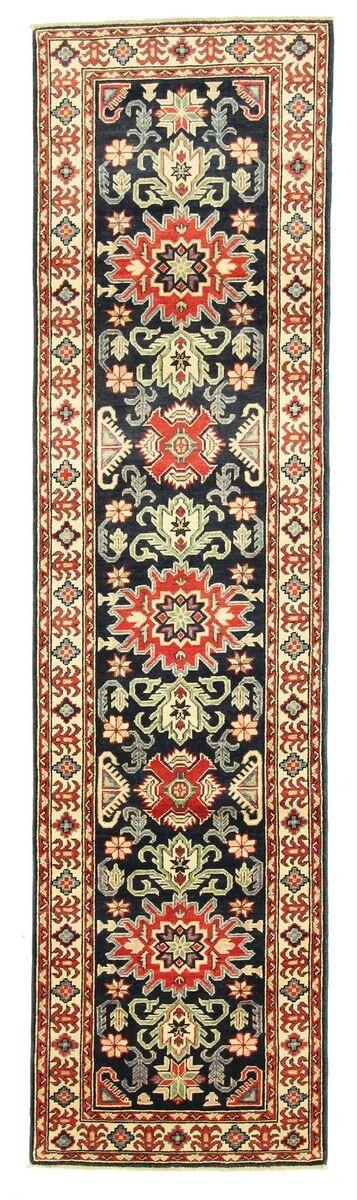 Nain Trading Tapis Authentique Kazak Royal 301x76 Coureur Beige/Marron (Laine, Pakistan, Noué à la main)